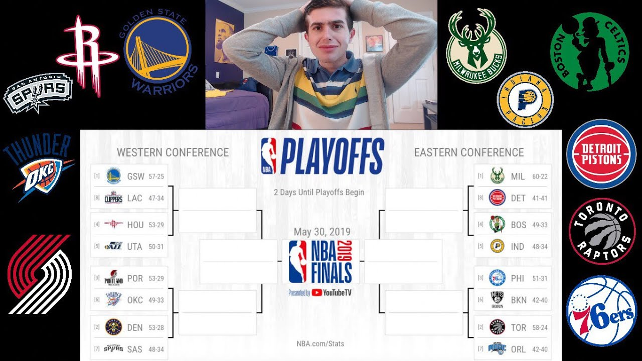 MY 2019 NBA PLAYOFF BRACKET!! WHO WILL WIN THE FINALS