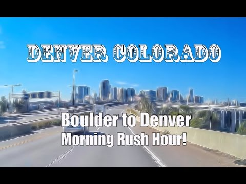 Dash Cam: Boulder to Denver Colorado Morning Rush Traffic Hour