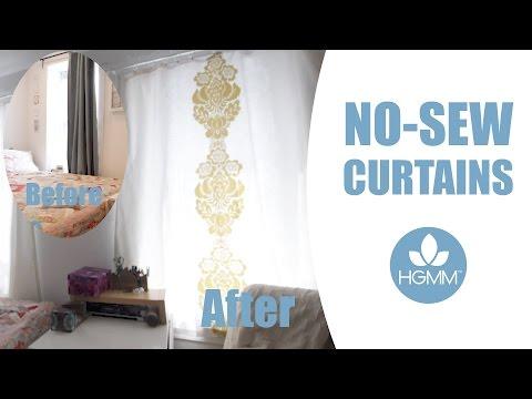 DIY No-Sew Curtains Tutorial