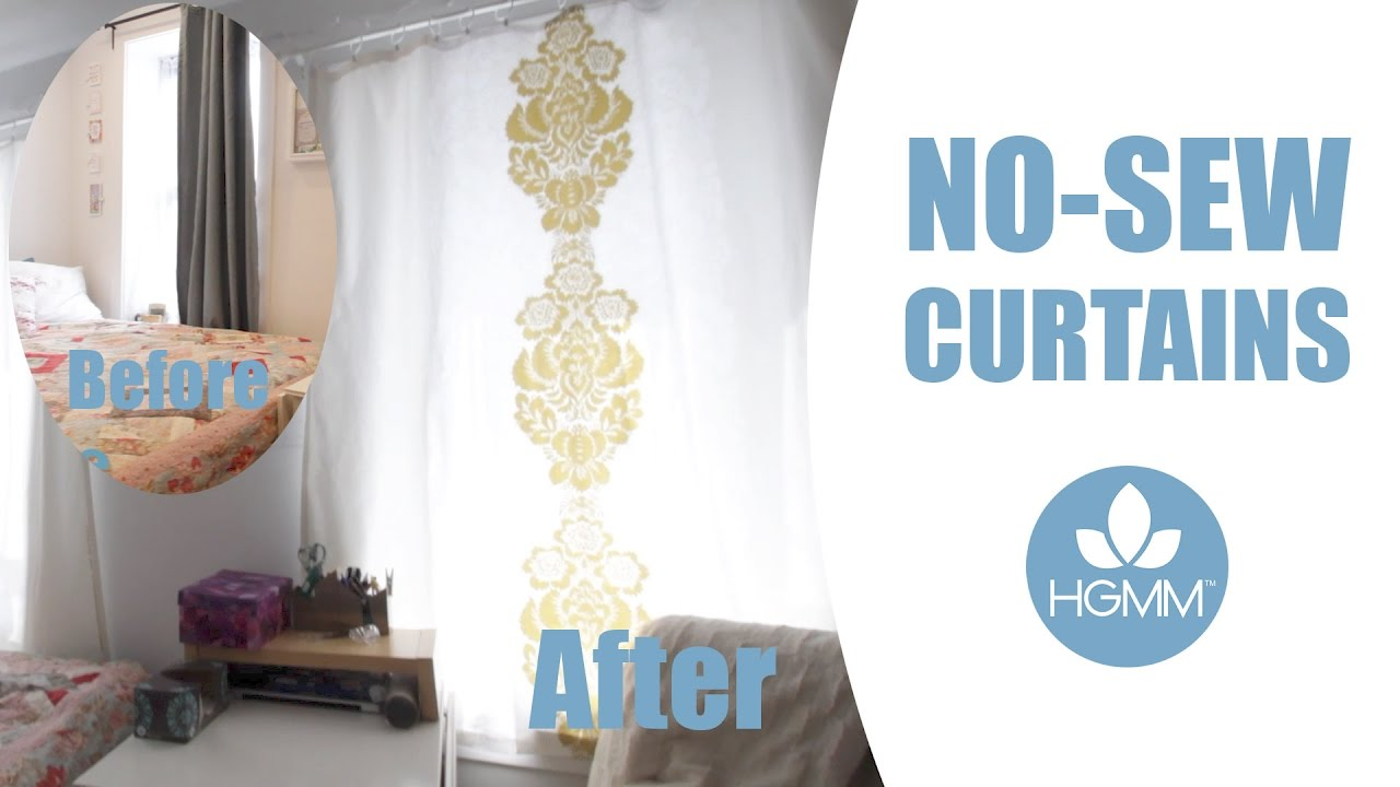 Diy No Sew Curtains Tutorial