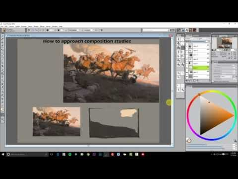 How to Approach Composition Studies - Jonathan Hardesty Live Painting Demo - 7/7/2016