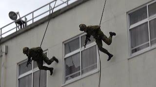 平成29年度 松本駐屯地創設67周年記念行事 レンジャー訓練展示 JGSDF Rangers demonstration