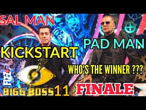 TIGER SALMAN KHAN   PADMAN AKSHAY KUMAR   KICK START BIGG BOSS 11 GRAND FINALE   WHO'S THE WINNER???