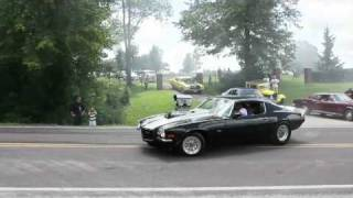 Funeral burnouts in honor of murder victim, Hawk Point, Missouri