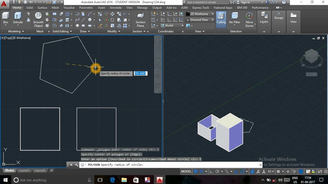 autocad 3d commands with examples pdf