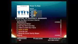 Rockband Beatles Song playlist