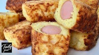 Картофельные Пальчики с Сосисками, Классный Перекус!