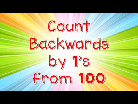Count Backwards By 1s From 100 | Jack Hartmann