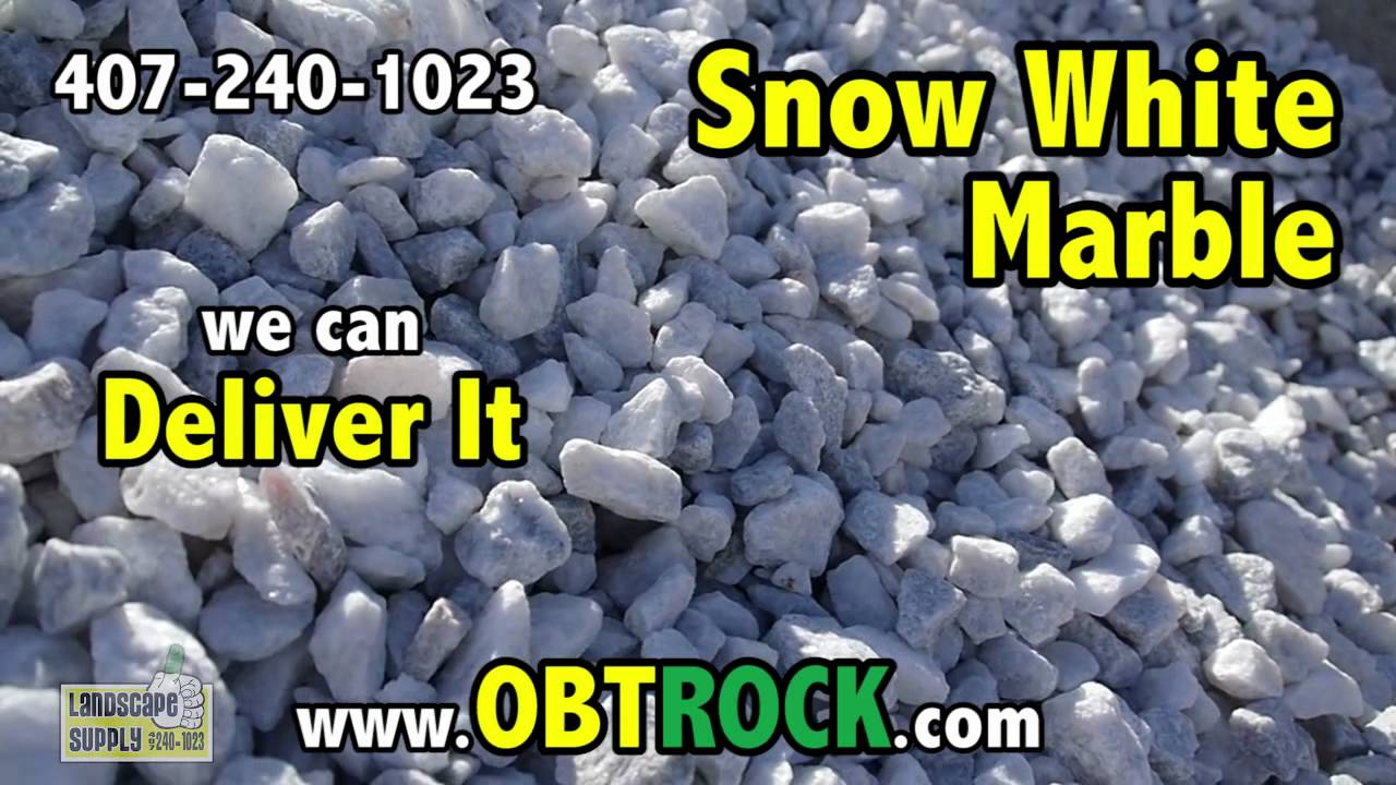 White Marble rock in Orlando 407-240-1023 - White Marble Chips