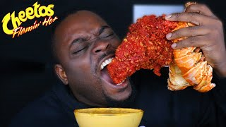 CHEESY HOT CHEETOS GIANT LOBSTER TAIL MUKBANG | BEAST MODE