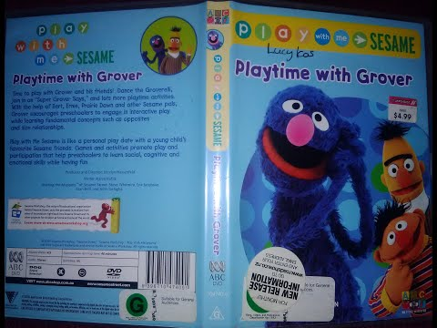 Play With Me Sesame Playtime With Grover DVD Australia 2005