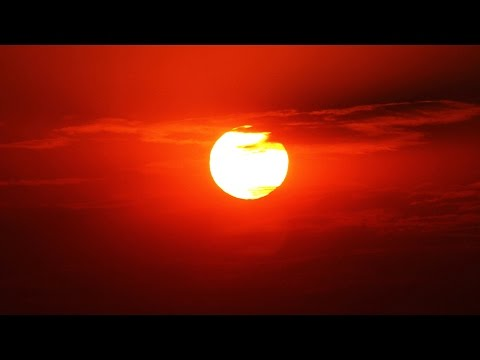Red Sky Rising Sun Time Lapse - Royalty Free HD Stock Video Footage.