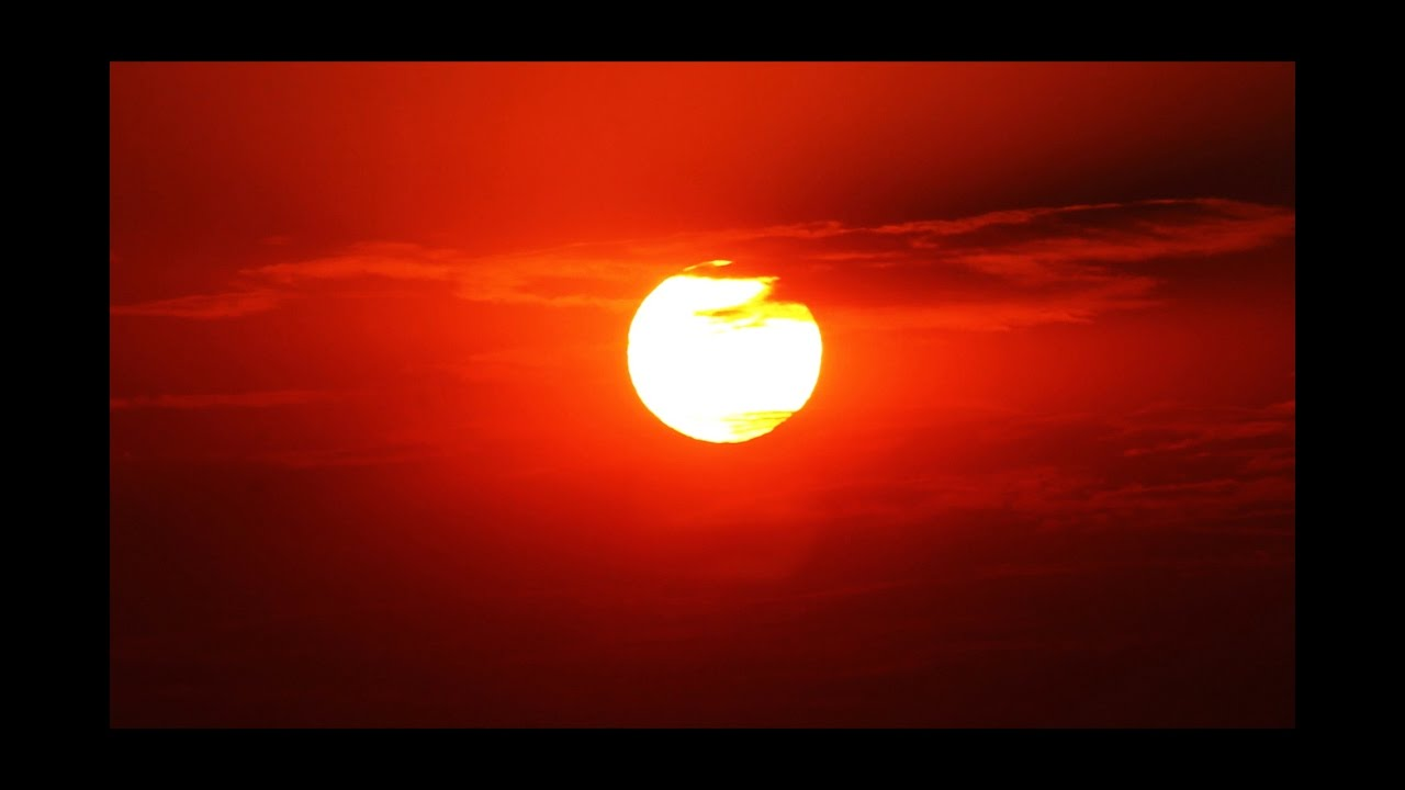 Red Sky Rising Sun Time Lapse - Royalty Free HD Stock ...