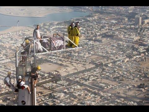 Amazing Time Lapse Video Construction Base Jumping Platform Burj Khalifa