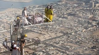 Amazing Time Lapse Video Construction Base Jumping Platform Burj Khalifa