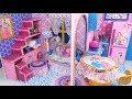 DIY Miniature Disney Princess Dollhouse~ Livingroom,  Kitchen, Bedroom and Bathroom