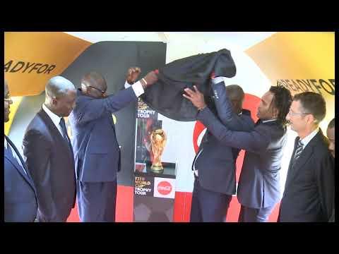 #Football: arrivée du trophée de la coupe du monde à Abidjan