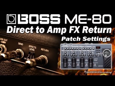 BOSS ME-80 Direct to Amp FX Return - Clean, Chorus and Overdrive Lead Tone.