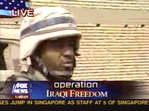 News - Part 2 - Iraq War - Tape 18 - Marines Walking Streets - 9 Apr 2003 2:30 am E.T.