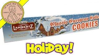 Classic European Cookies, Lambertz - 2013 Christmas Candy & Snack Series