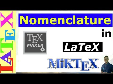Nomenclature in Latex (Latex Tutorial, Episode-13)