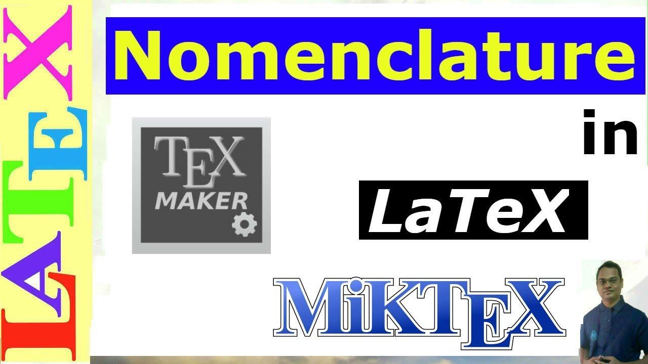 Nomenclature in latex latex tutorial episode 13 youtube nomenclature in latex latex tutorial episode 13 ccuart Gallery
