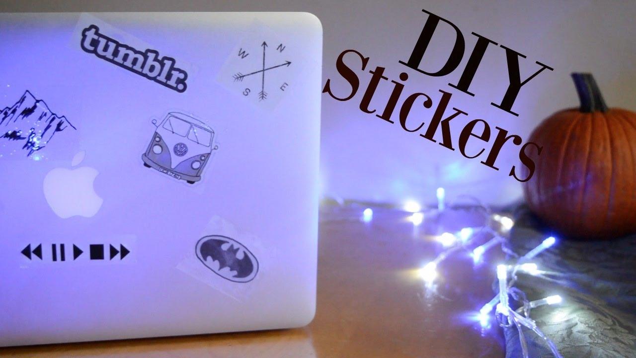DIY Tumblr Inspired Laptop Stickers - YouTube