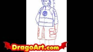 How to draw Choji, step by step