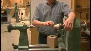 Wood Turning Oil Lamps : Mounting Wood to Turn an Oil Lamp