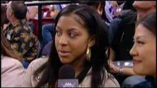 Candace Parker at Sacramento Kings game