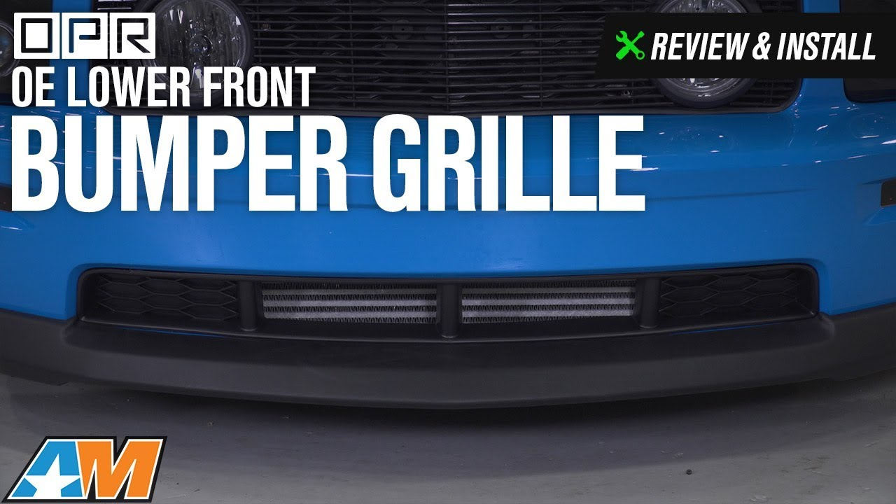 2005-2009 Mustang GT OPR OE Lower Front Bumper Grille Review & Install