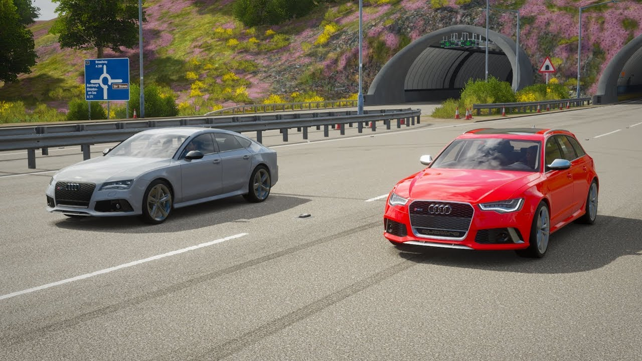 Forza Horizon 4 Drag Race Audi Rs7 Vs Audi Rs6 Avant Youtube