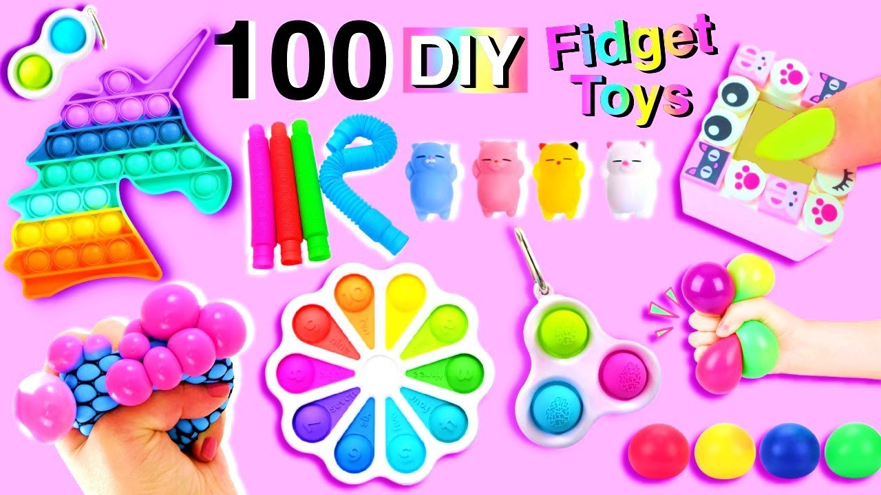 100 DIY FIDGET TOYS IDEAS - VIRAL TIKTOK FIDGET TOYS, POP IT HACKS AND CRAFTS and more..