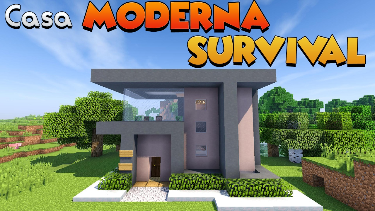Come costruire una casa moderna per il survival su for Tutorial casa moderna grande minecraft