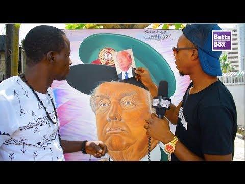 Nigerian Paints DONALD TRUMP as African Military Dictator