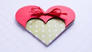 How to Make - Greeting Card Valentines Day Heart - Step by Step DIY  Kartka Walentynki