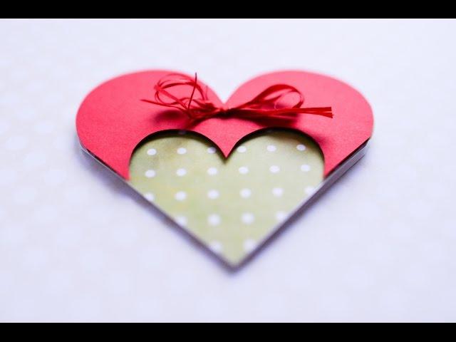 How to Make - Greeting Card Valentines Day Heart - Step by Step DIY | Kartka Walentynki