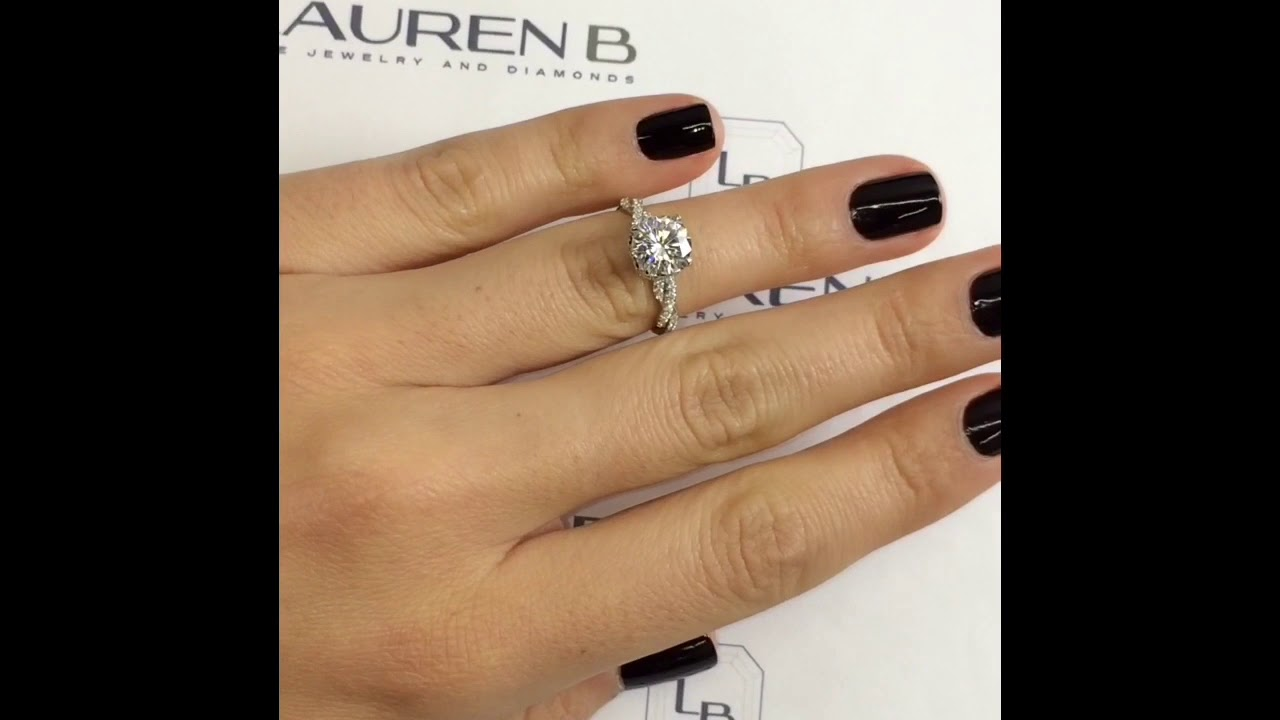 Round Moissanite Braided Band Engagement Ring