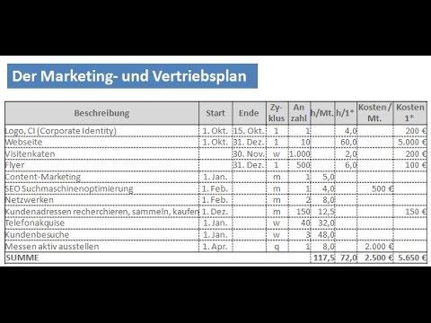 Erfolgreich Vertrieb - Video 6: Ihr Marketingplan Und Vertriebsplan