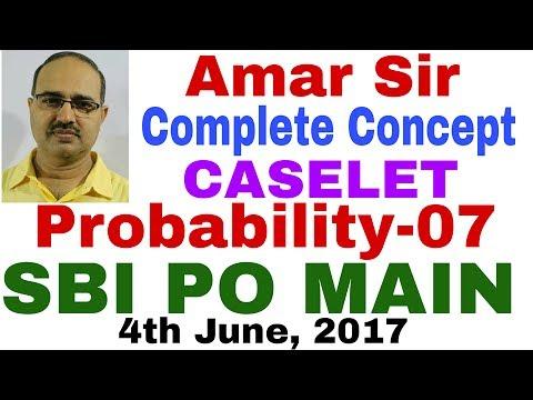 SBI PO MAIN | 4th June, 2017 | Probability Questions-07 | Unique Method #Amar Sir