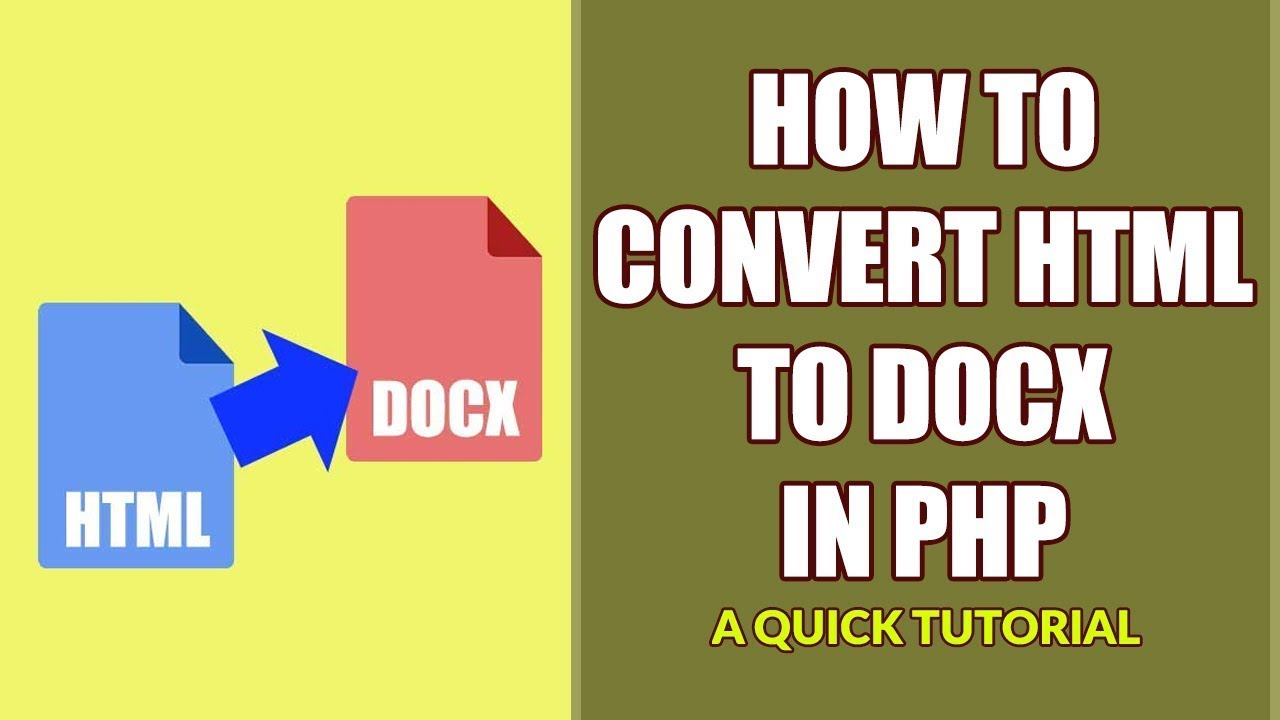 How To Convert HTML To DOCX Using PHP