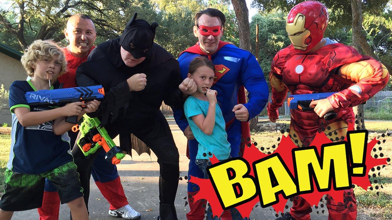 kid heroes 16 the new cop car superman batman iron man and spiderman youtube batman superman iron man 2