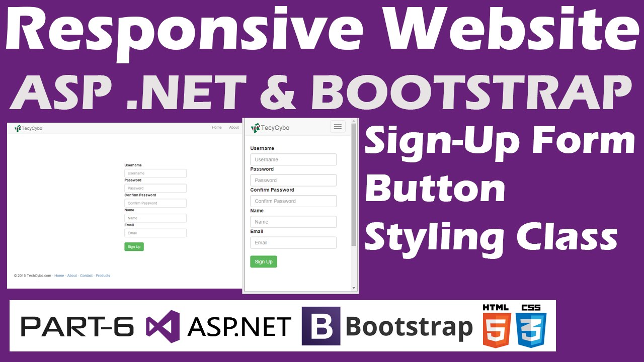 Responsive website asp bootstrap part 6 sign up form net bootstrap part 6 sign up form designing falaconquin