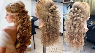 How to do bridal hair style - Step by Step Beginners - Comp hacer peinado de Novia Half up Half Down