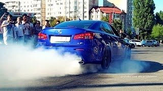 Lexus IS-F burnout