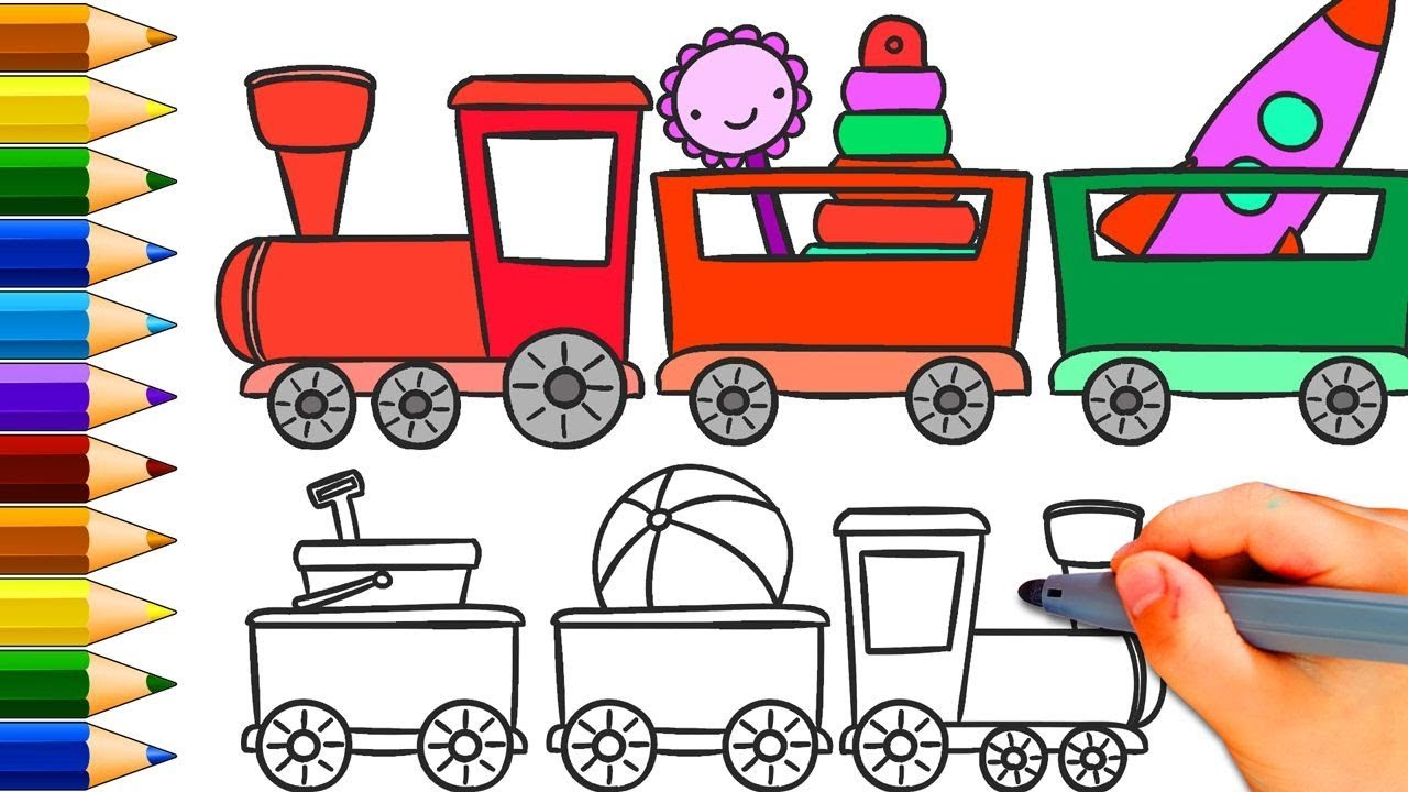 How To Draw A Train For Kids How To Draw A Train Easy Step By Step