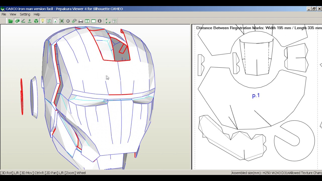 Iron Man Helmet Papercraft Pdf
