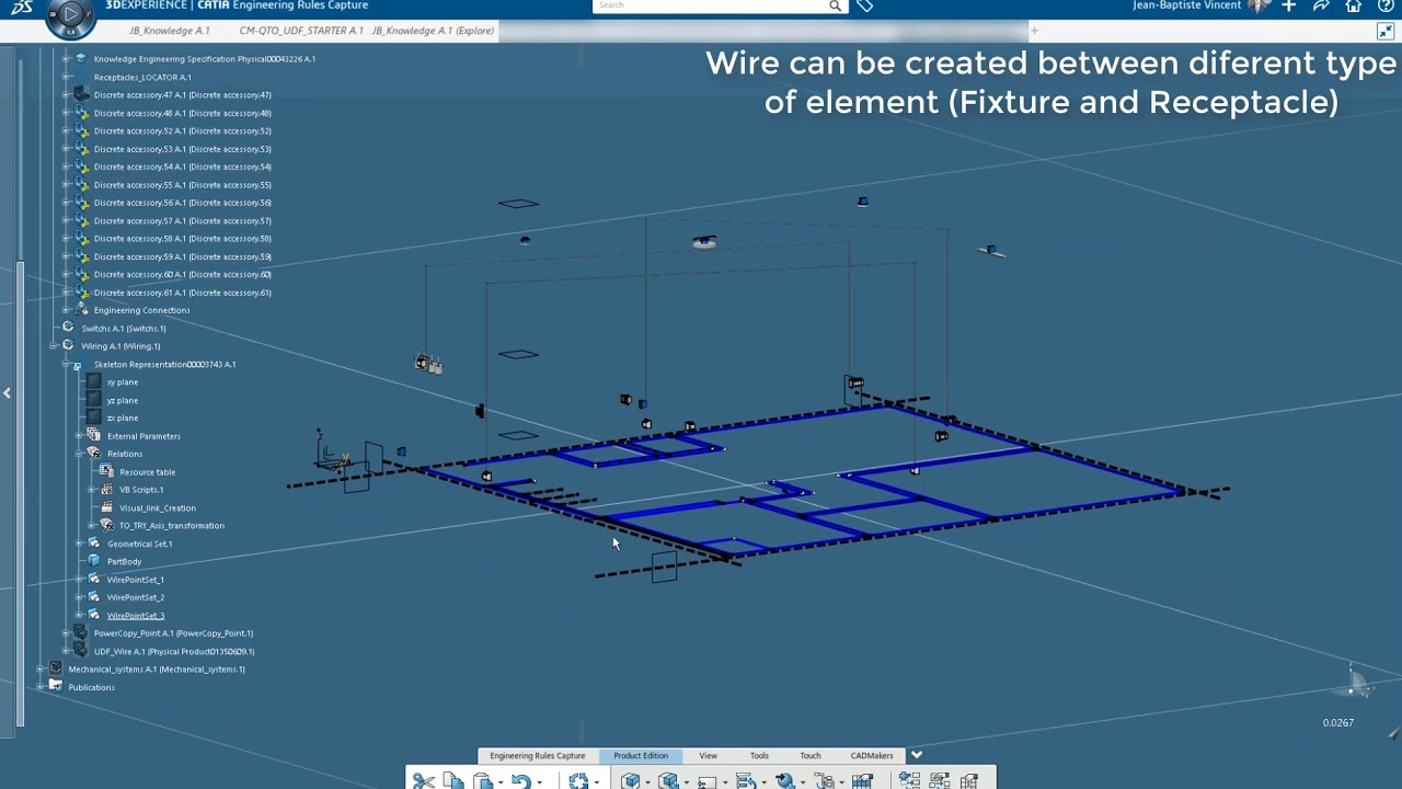 smart electrical wire routing catia 3dx youtube rh youtube com
