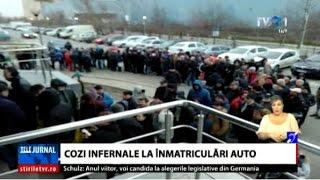 Coadă infernală la serviciul de înmatriculări şi permise auto din Bucureşti