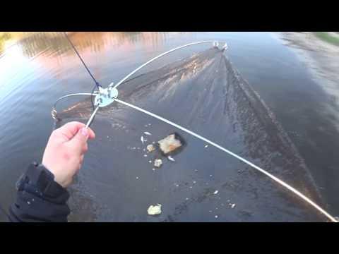 Рыбалка на подъемник с моста
